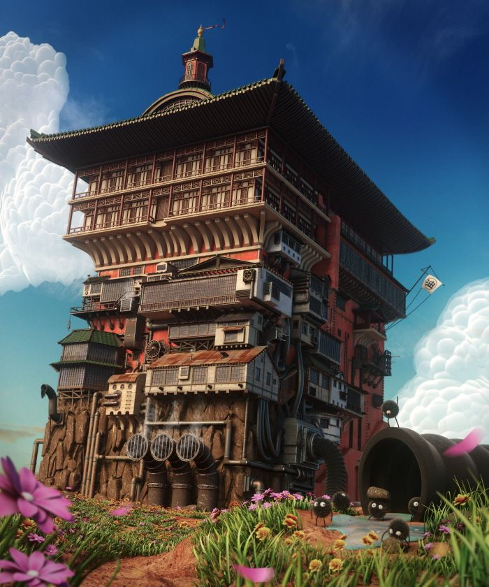 Spirited Away S Bath House By Eddy Loukil At Coroflot Com Spirited Away Spirited Away Bathhouse Ghibli
