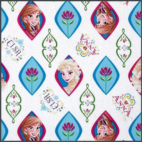 Tela Disney Elsa & Anna Frozen por Tejidosaloloco en Etsy