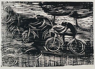 Ciclistas - estudo - Gilvan Samico