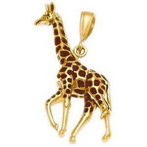 Giraffe charm giraffe pendant 14kt gold jewelry wildlife designer clothes shoes bags for women ssense giraffe necklacecharm aloadofball Choice Image