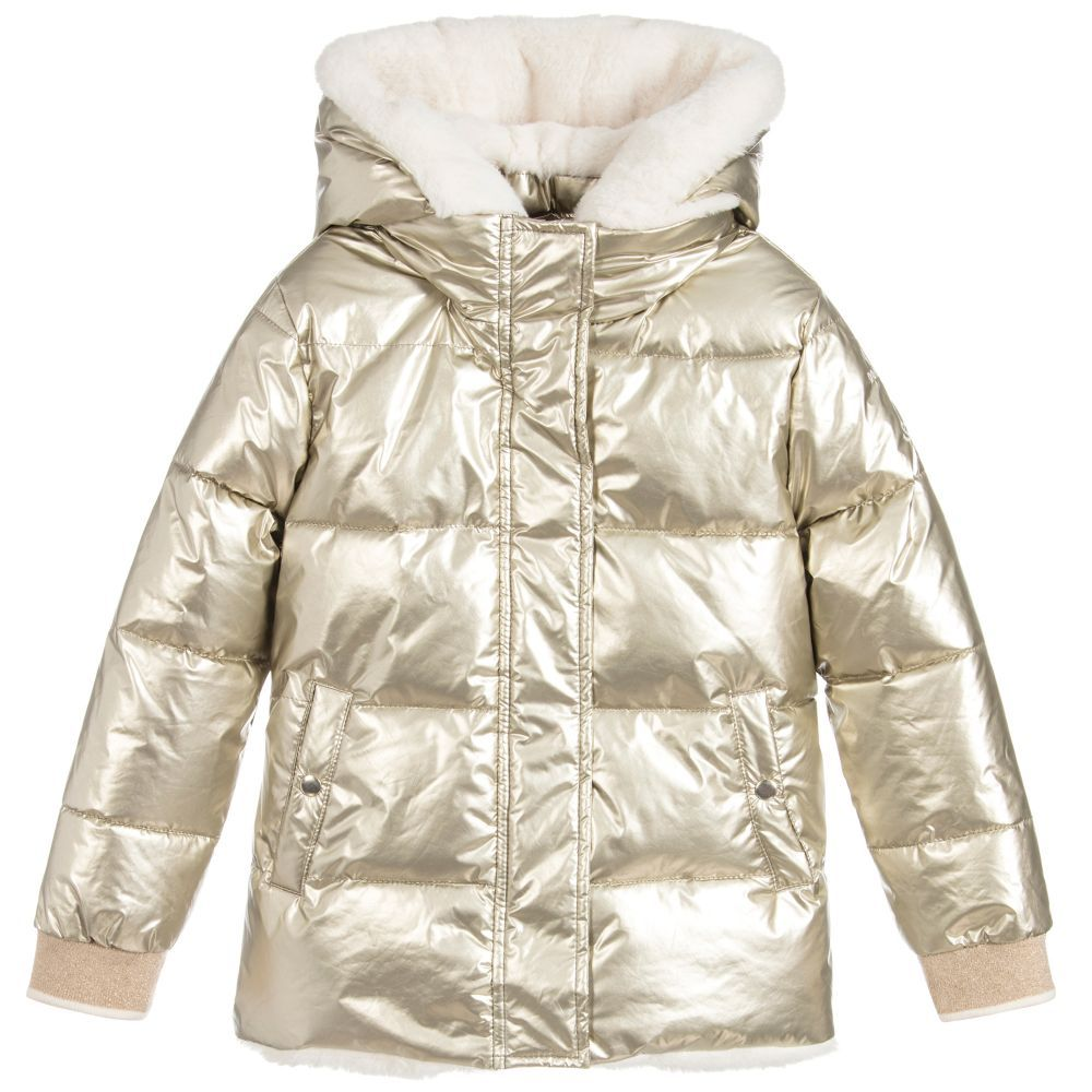 c45369e6c Girls Gold Puffer Jacket