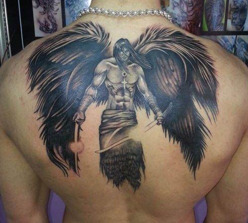 Tatuajes De Angeles Para Hombres Tatuajes De Angel Para Hombres Tatuaje Angel Tatuajes De Angeles Guerreros