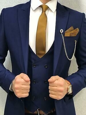 Vintage Jacket Pants Vest Men Suits 3 Pieces Slim Fit Wedding Groom Tuxedos | eBay