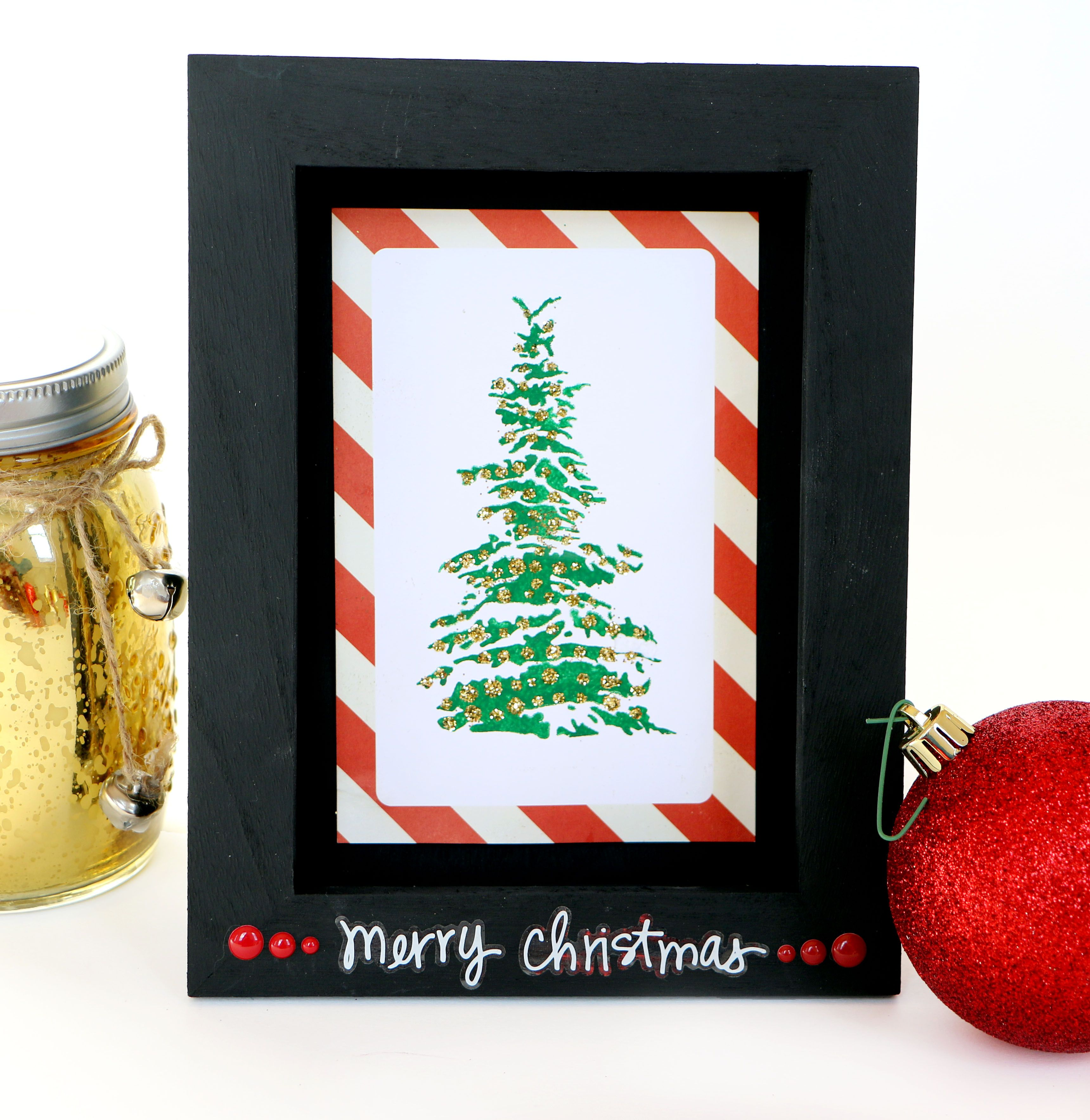 Grab A Frame And The Christmas Tree Stencil From Stencil1