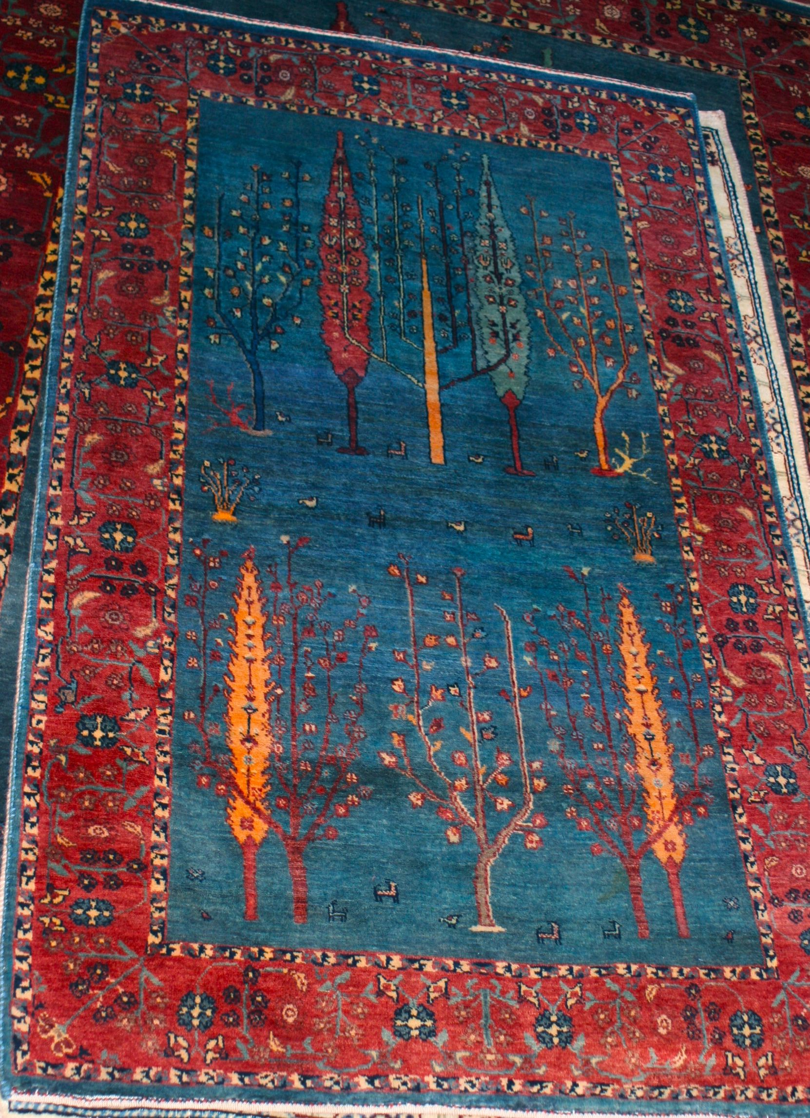 inspirations decor blue rug gabbeh ideas design about creative with rugs furniture home remodel