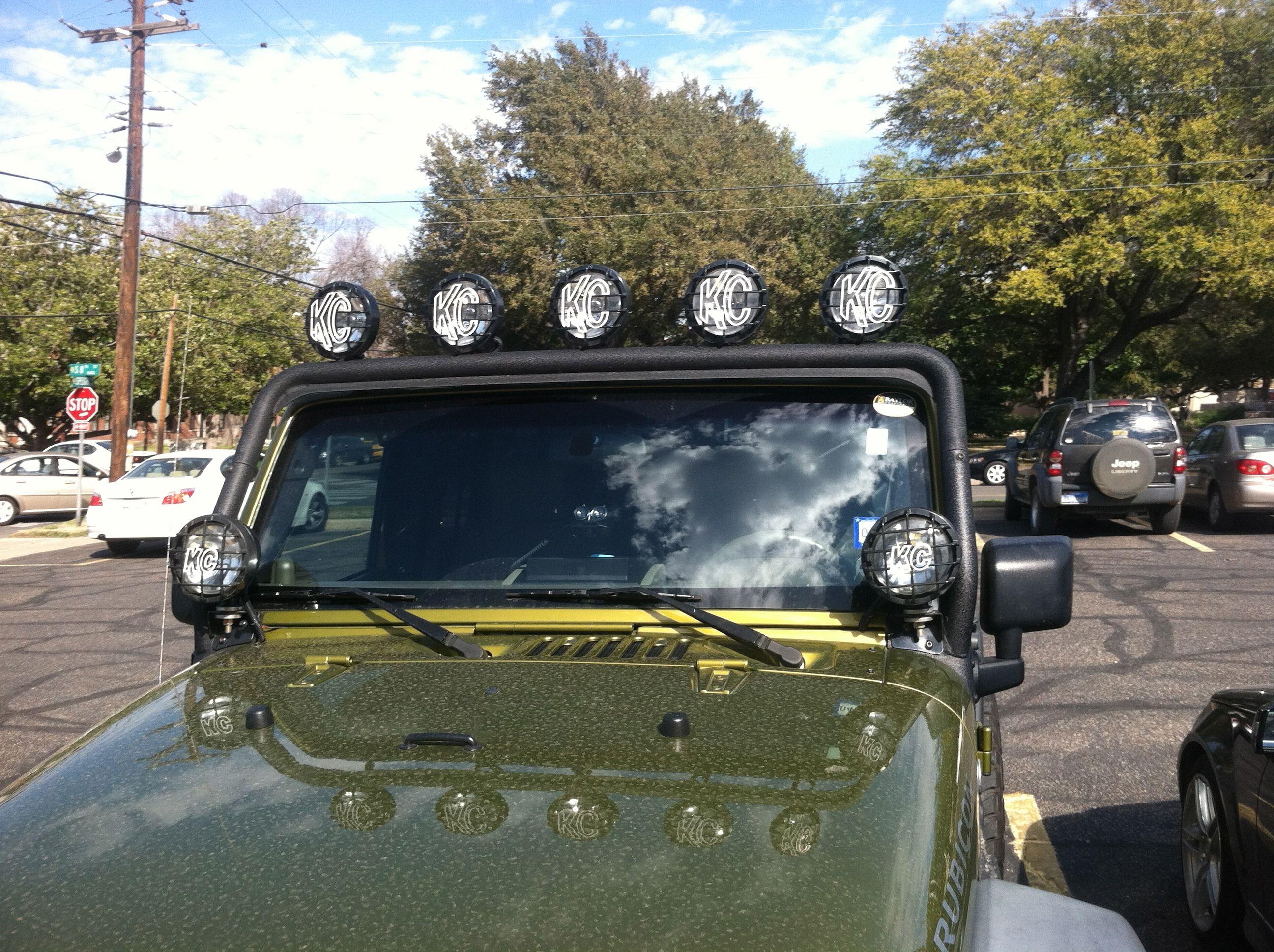 Kc Hilights Overhead Bar 5 Bar Lights Two Sides Jeep Wrangler Parts Jeep Wrangler Tj Jeep Tj