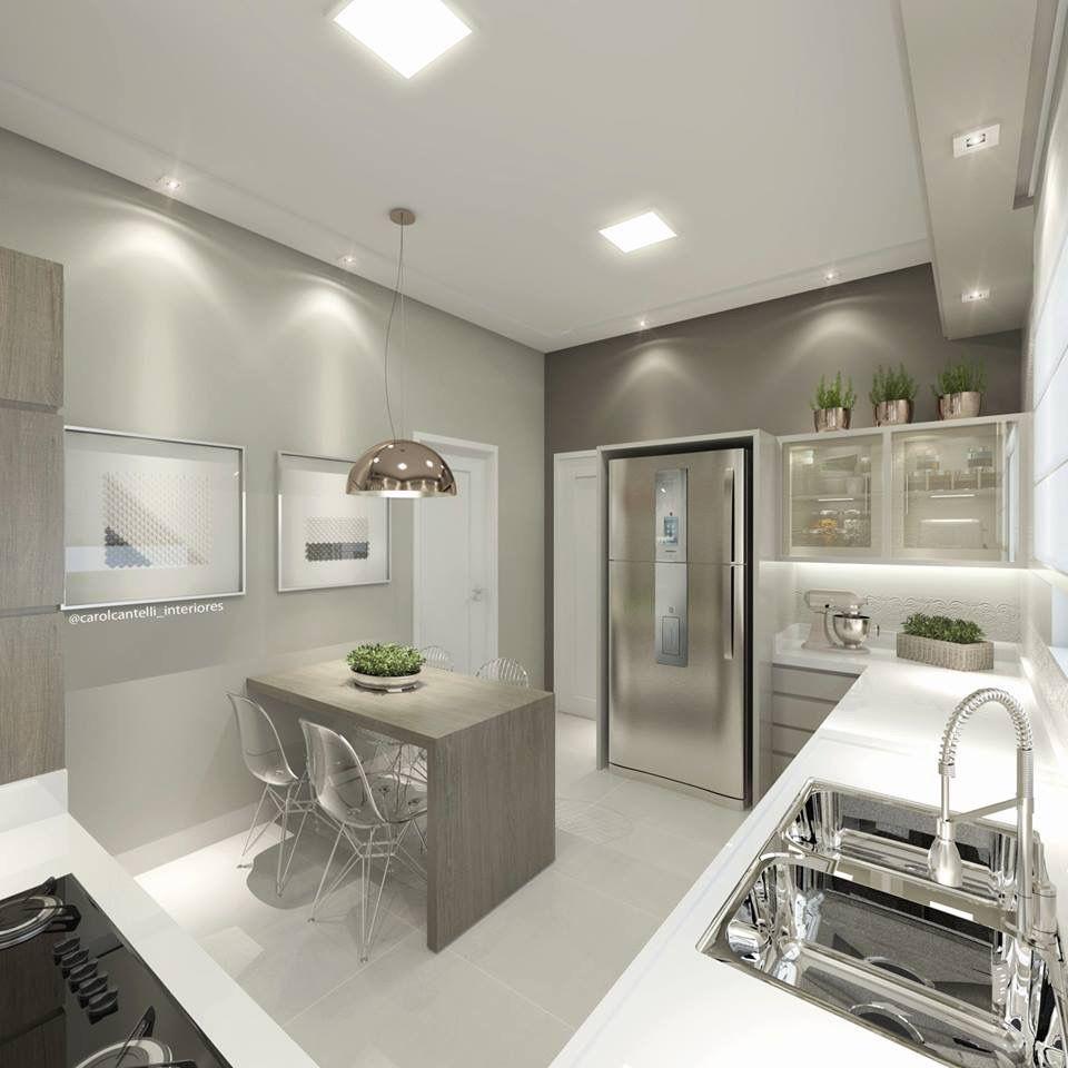 Cozinha Moderna E Bem Iluminada Carol Cantelli Inspira Es