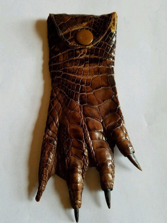 c78a36b1a6c8 Antique Victorian Alligator Crocodile Leather Foot & Claws Change Purse  1890s | eBay
