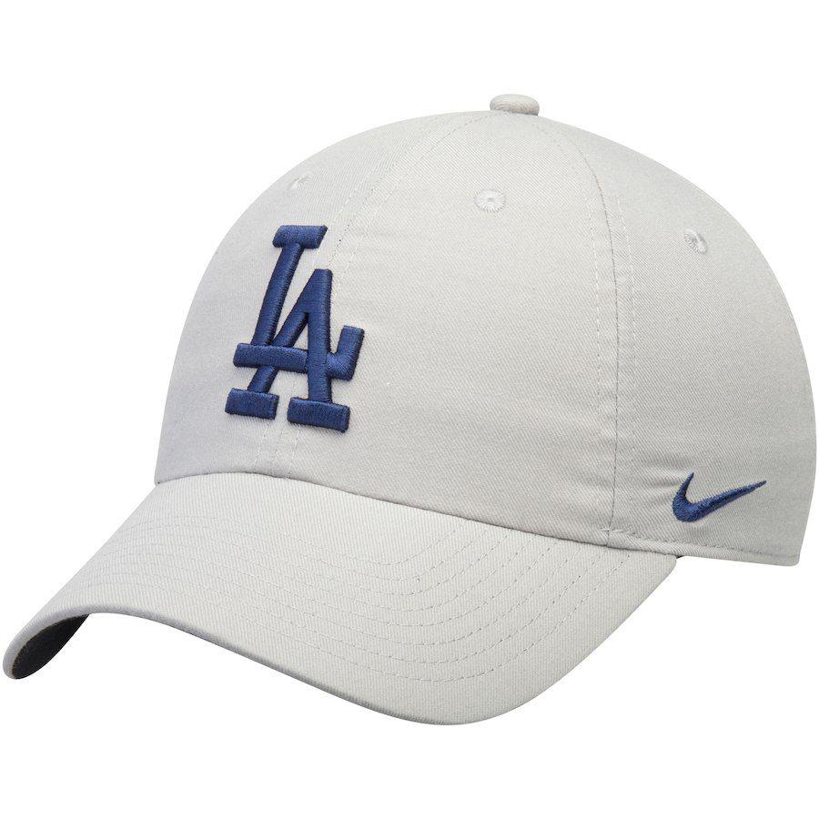 f9401832a2c Men s Los Angeles Dodgers Nike Gray Heritage 86 Stadium Performance Adjustable  Hat
