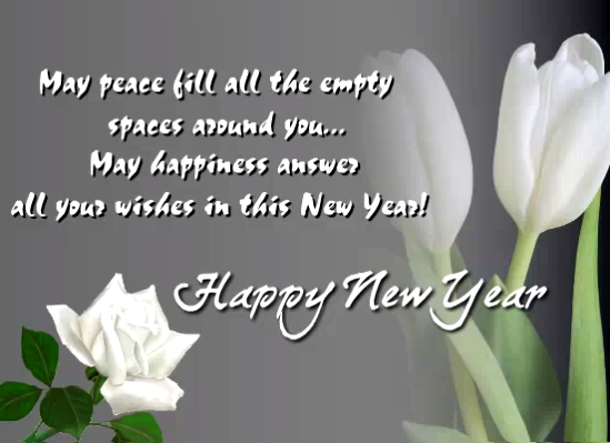 peaceful new year greating card