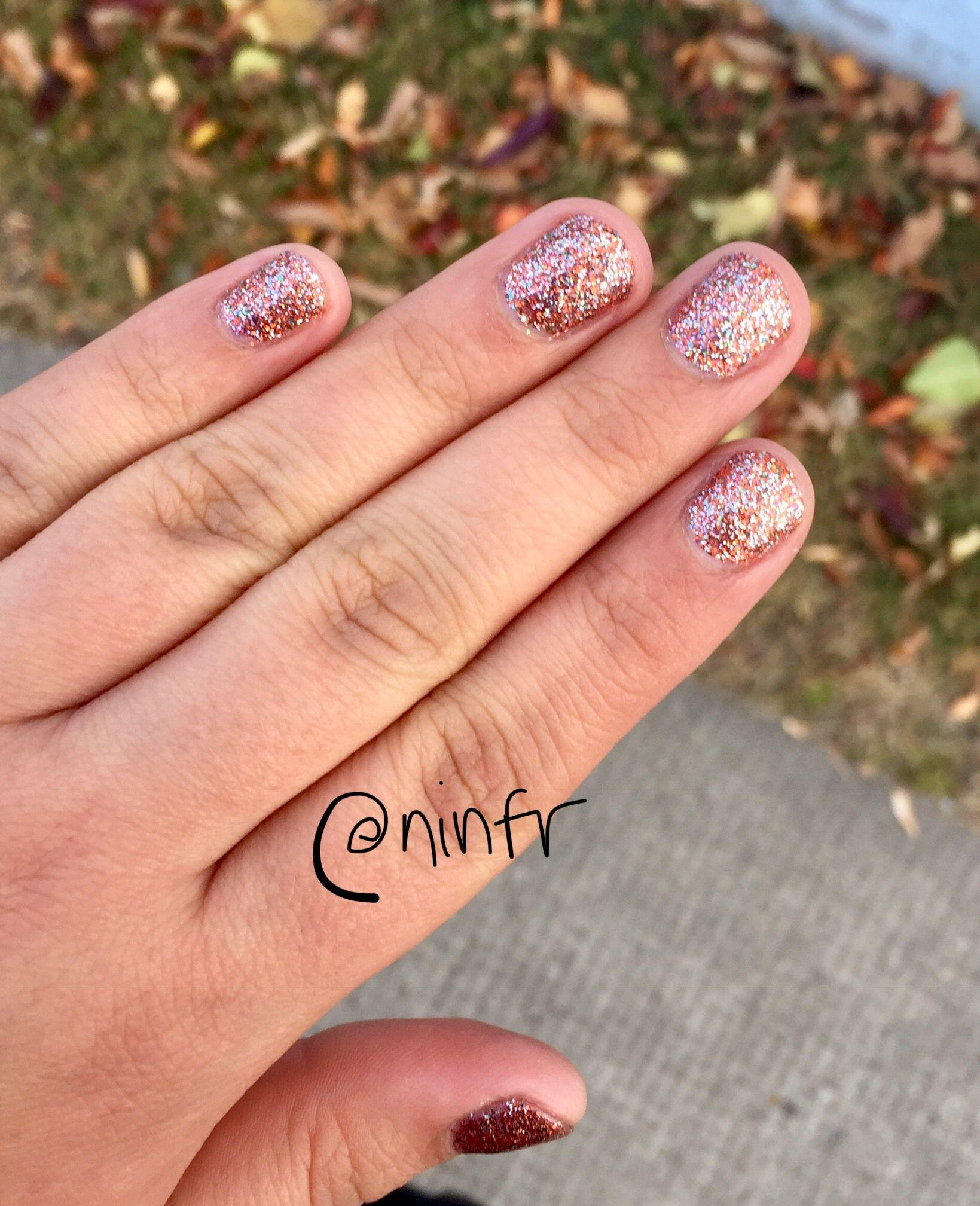 Gorgeous halloween nail polish shade Orange, silver and ...