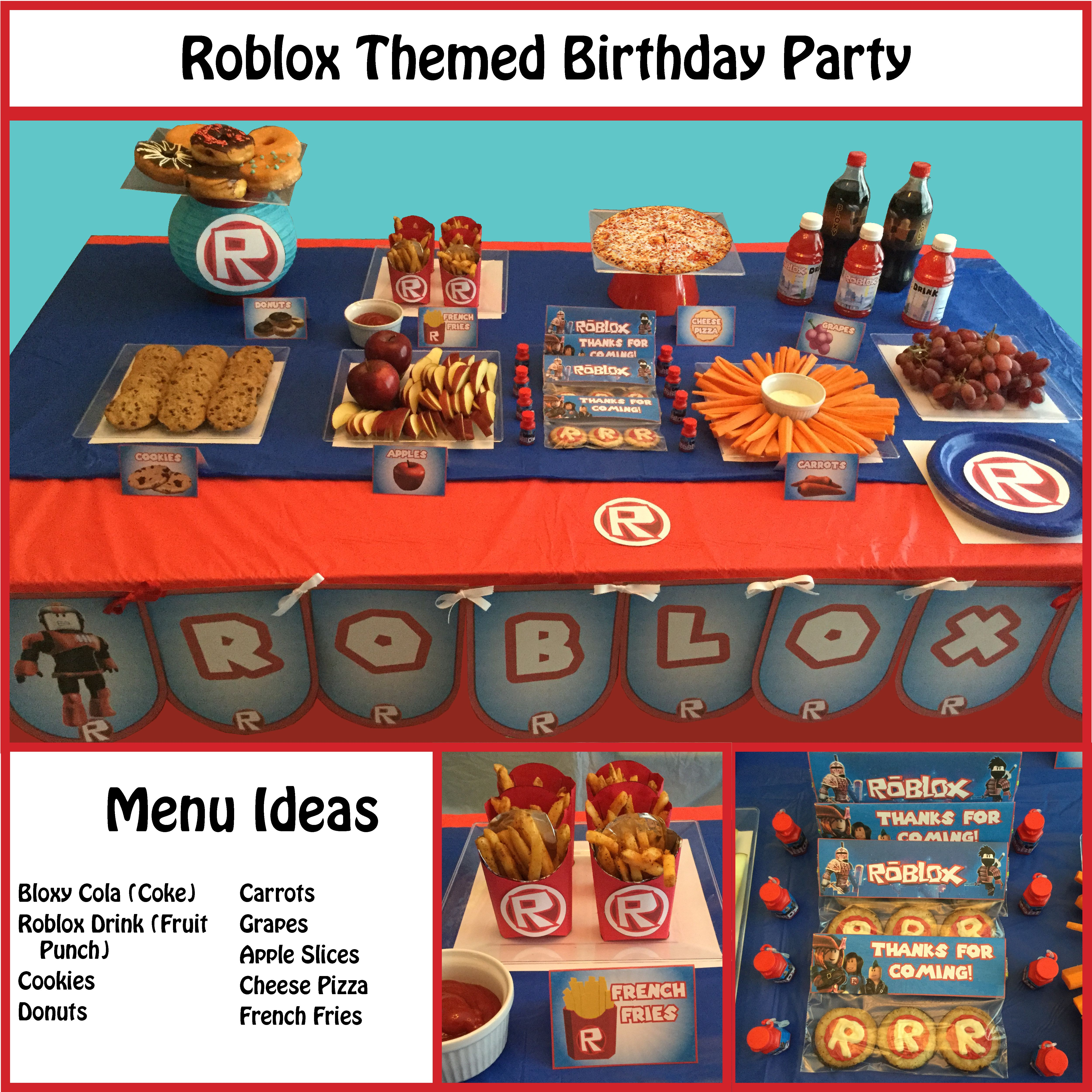 Roblox Themed Party Supplies Themed Party Supplies Birthday