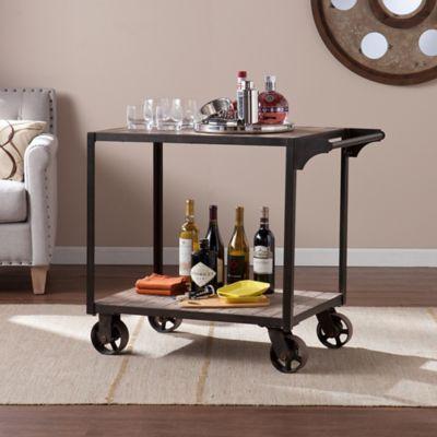 Southern Enterprises Dayne Bar Cart In Black Bed Bath Beyond