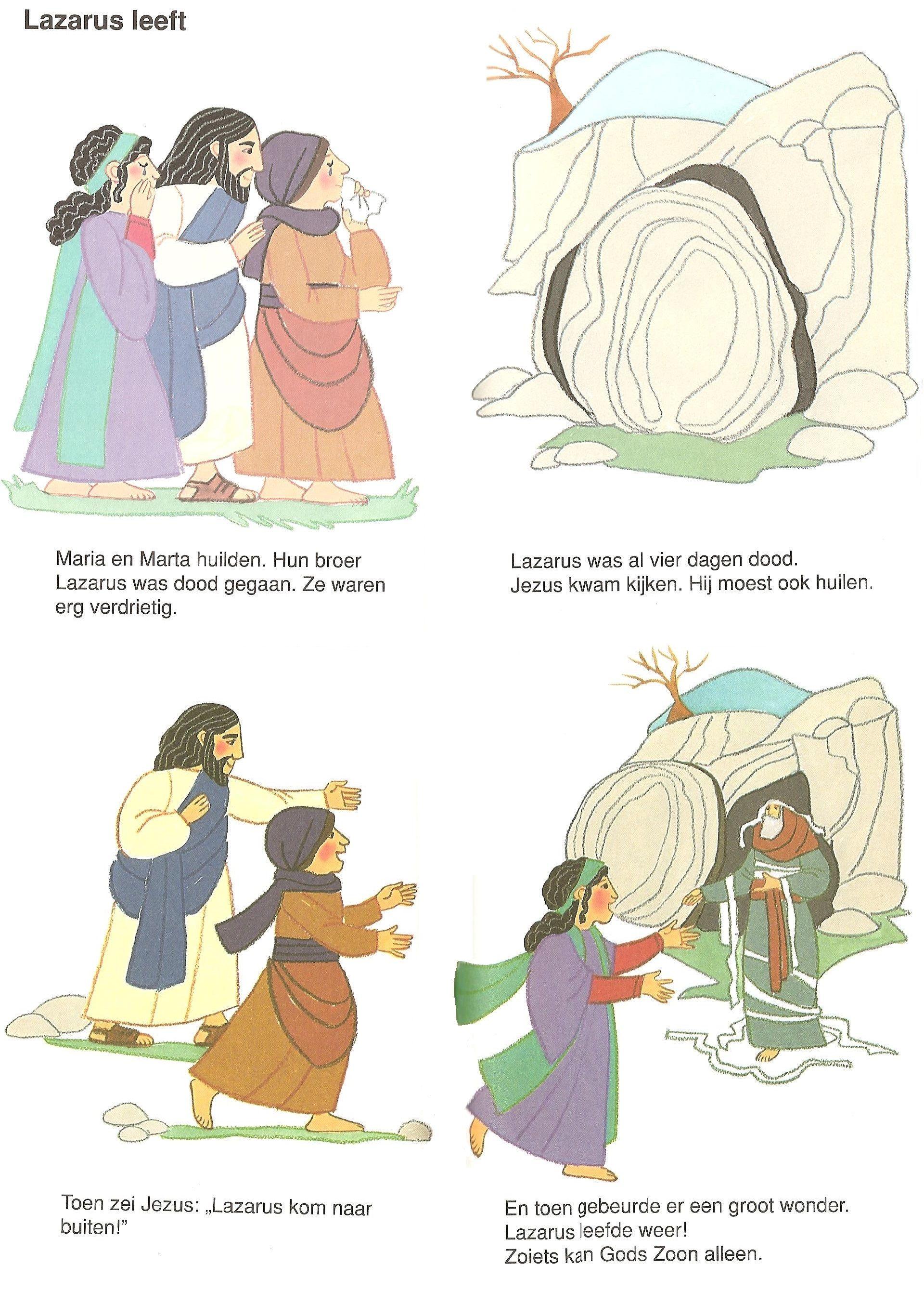 Lazarus Leeft Bijbel Jezus Kleurplaten