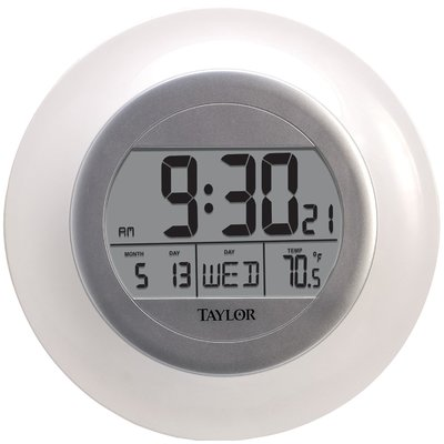 Taylor Atomic Wall Clock With Thermometer Wall Clock