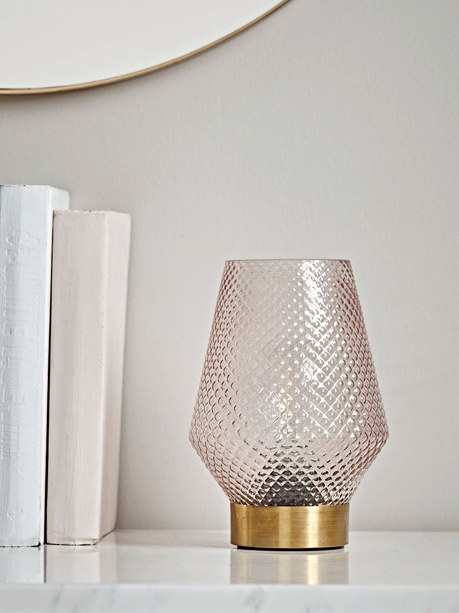 Textured Glass LED Table Lamp Home