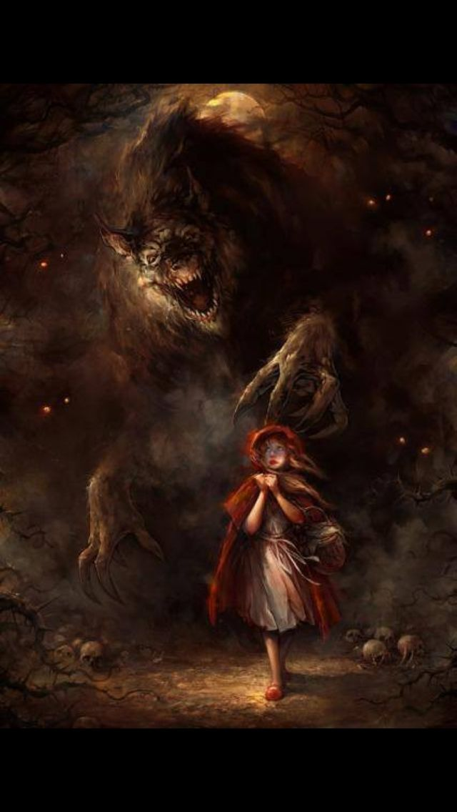 Illustration Inspiration Wolf Girl Horror Art Red Riding Hood