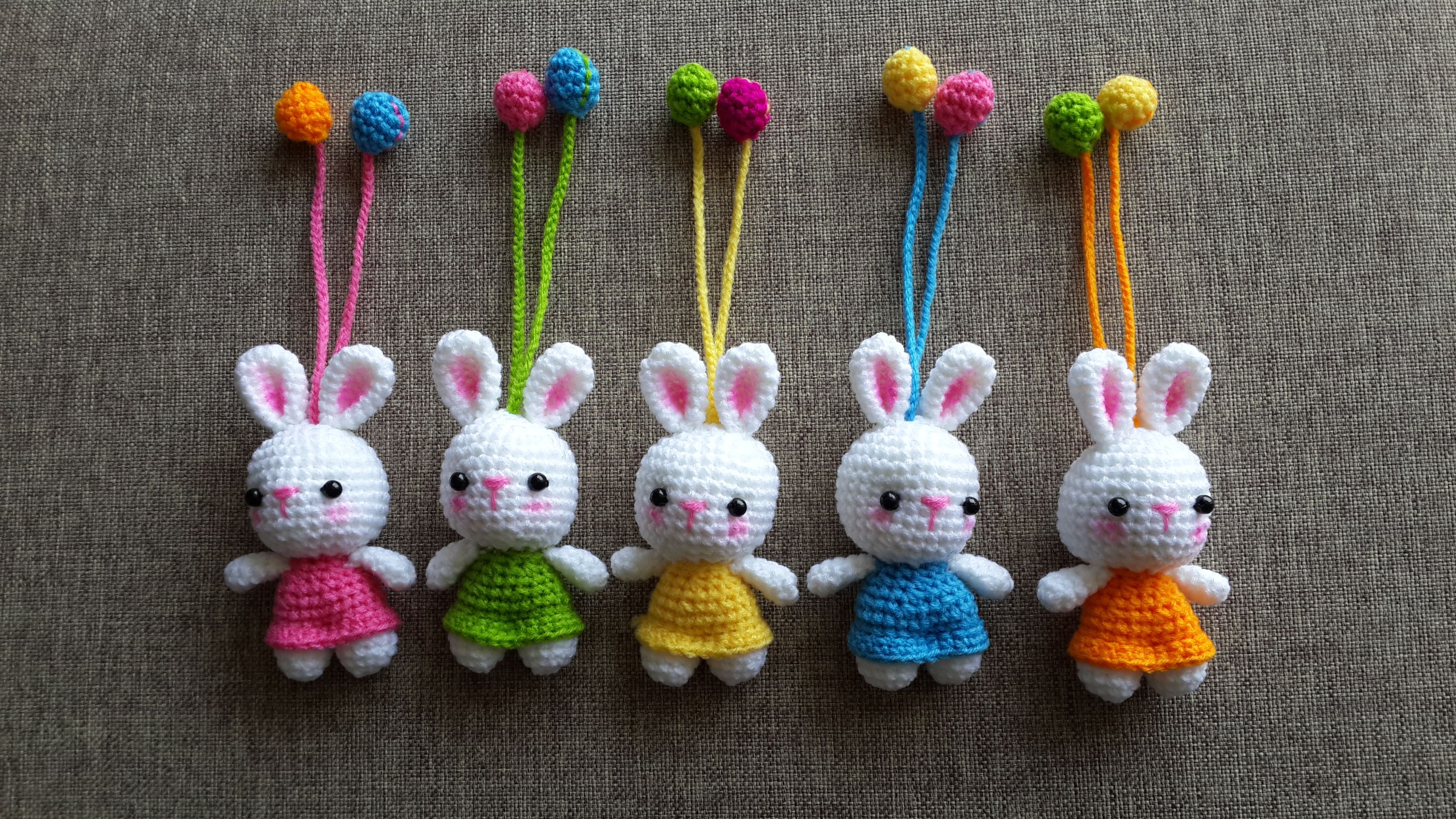 Bunny Key chain Pattern by : Nan zaa | Crochet | Pinterest | Key ...