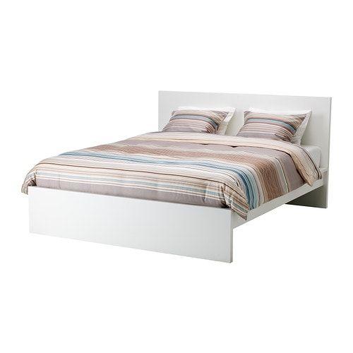 Malm Bettgestell Hoch Eichenfurnier Weiss Lasiert Ikea Osterreich Malm Bed Frame White Bed Frame High Bed Frame