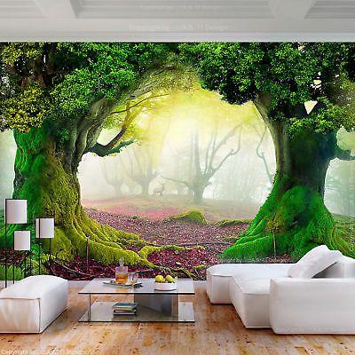 FOTOTAPETE selbstklebend Tapete Wald Natur Herbst 3D effekt ...