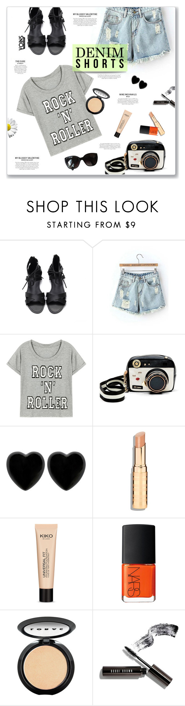 """""""Denim Shorts Yoins 2//16"""" by kellylynne68 ❤ liked on Polyvore featuring Betsey Johnson, Dollydagger, NARS Cosmetics, LORAC, Bobbi Brown Cosmetics, Chanel and vintage"""