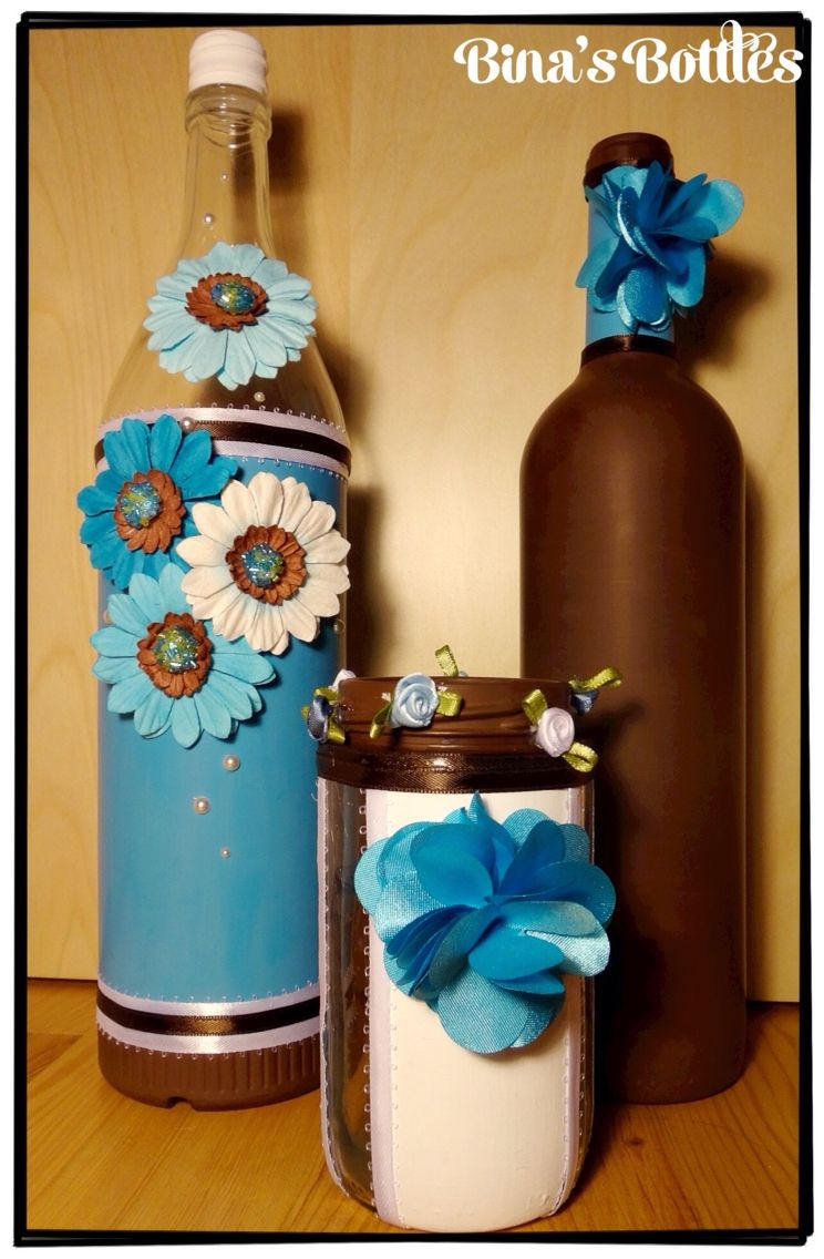Bina's Bottles on Etsy- unique decorative glass bottles