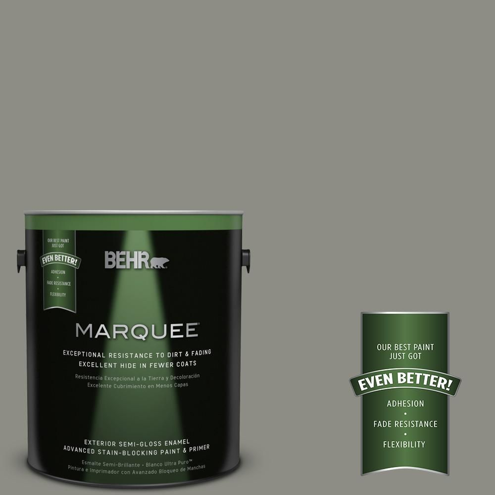 Behr Marquee 1 Gal N370 5 Incognito Semi Gloss Enamel Exterior Paint And Primer In One 545401 Behr Marquee Behr Exterior Paint