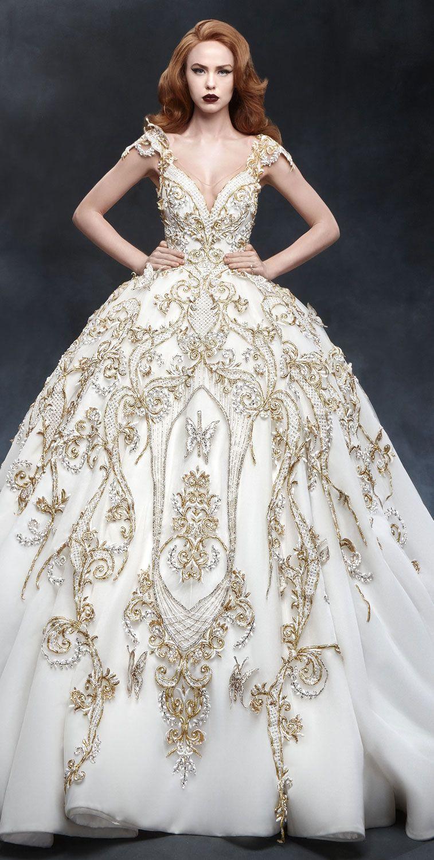 High Fashion Wedding Dress with Elegant Details