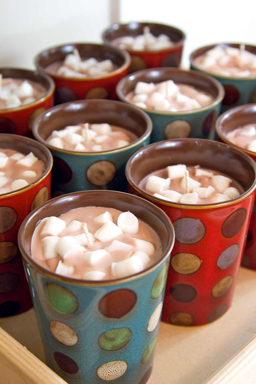 Hot Chocolate Mug with Mini Marshmallows. 16.00, via Etsy
