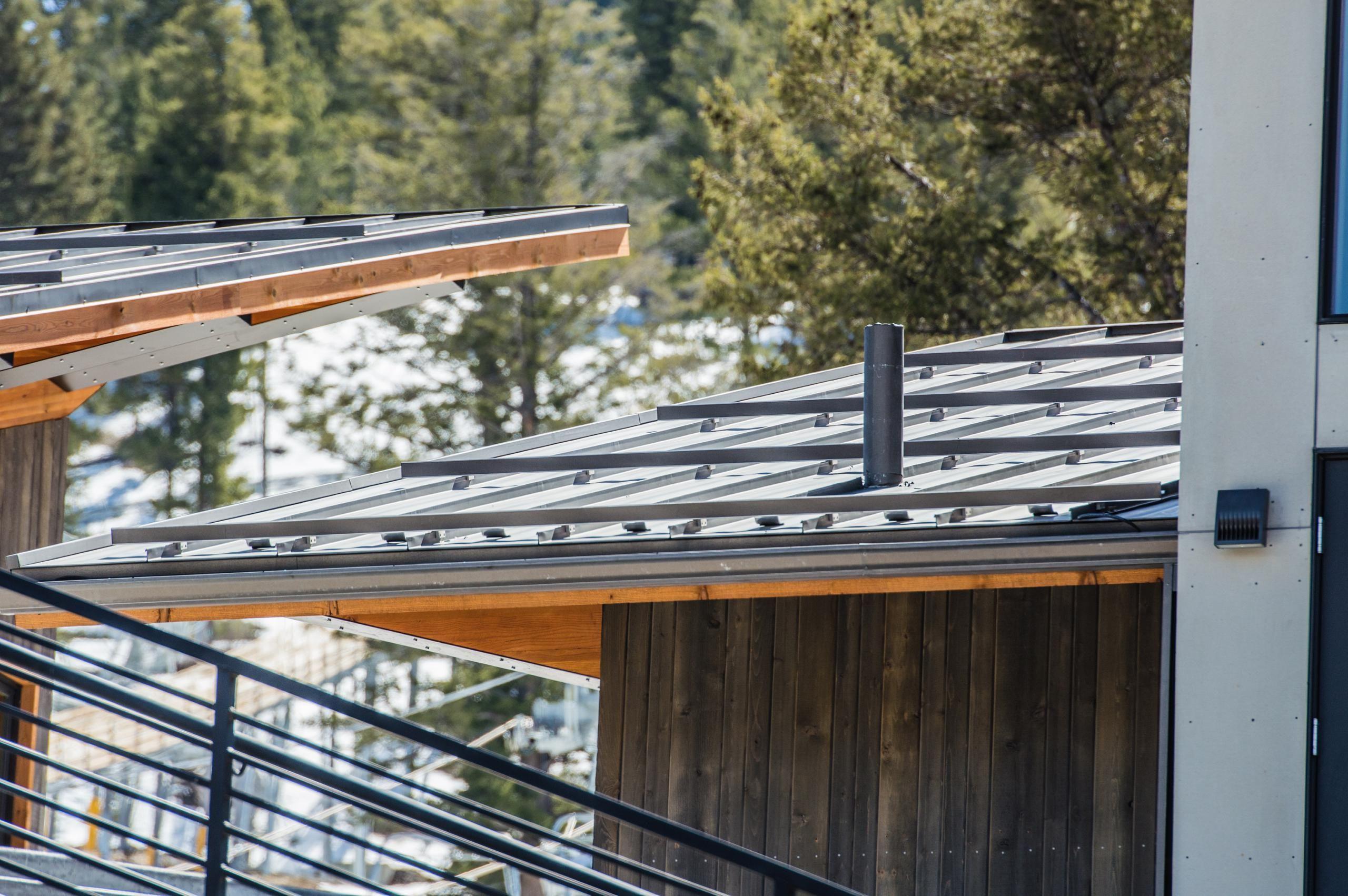 Standing Seam Metal Roofing Bonderized Snow Retention Standing Seam Metal Roof Commercial Metal Roofing Metal Roof