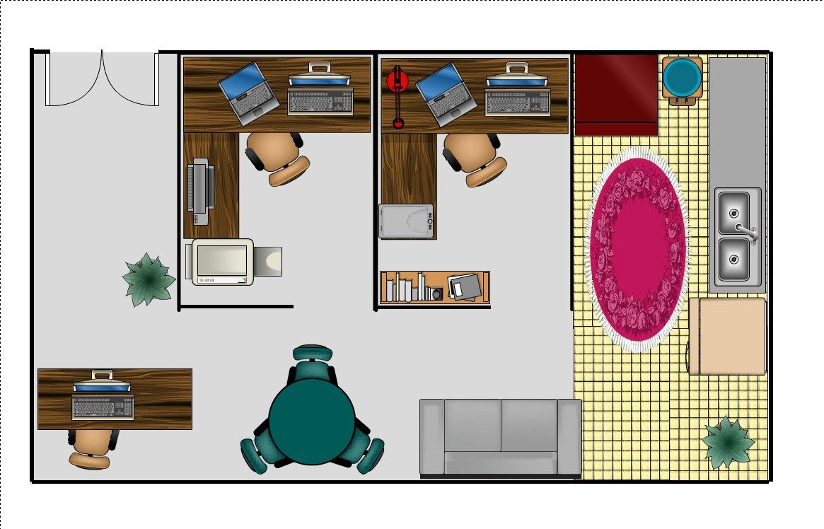 small home office layout home office design home design layout part ...
