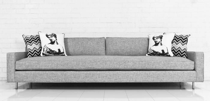 Madison Sofa In Zuma Pumice 2400 Room Service 10ft Long