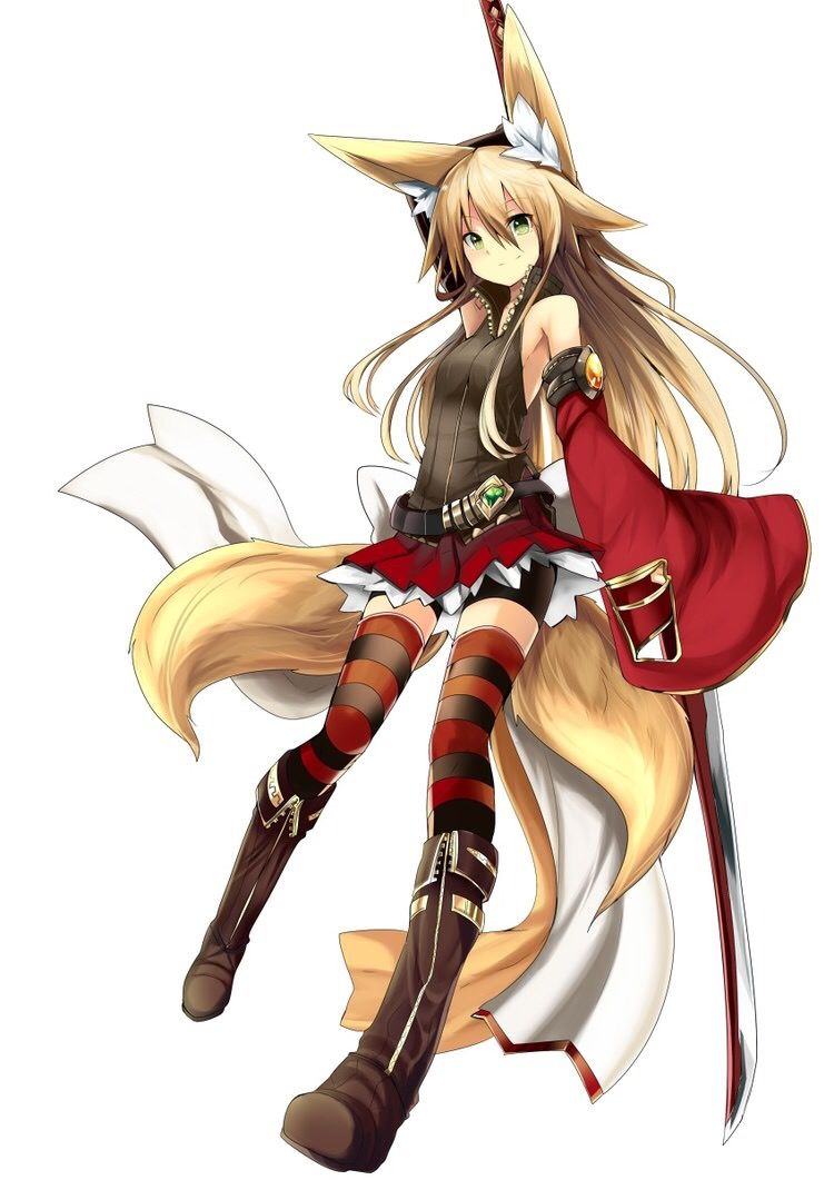 Kitsune By Haik With Images Anime Warrior Girl Anime Warrior