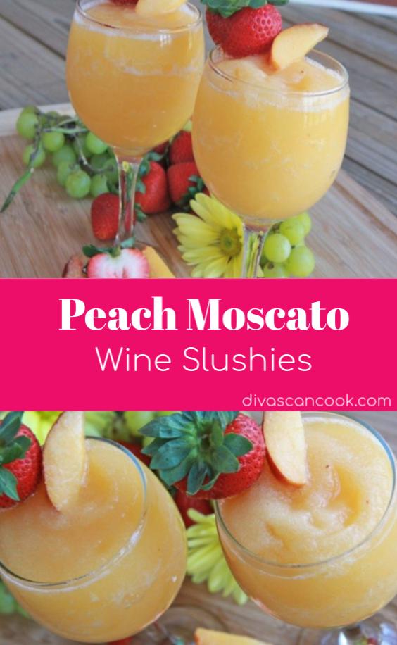 Moscato Peach Wine Slushies #cocktaildrinks