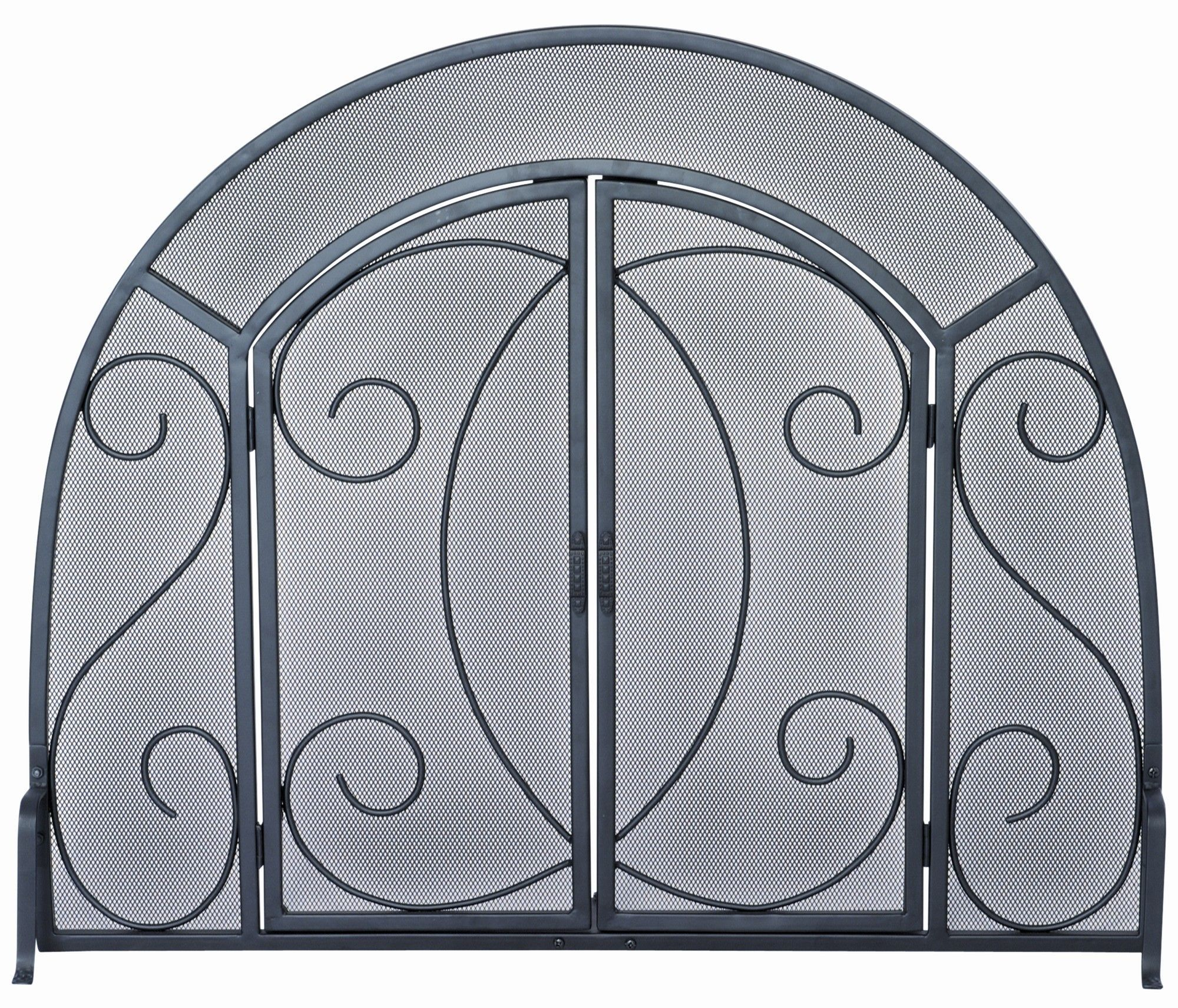 Wrought Iron Ornate Fireplace Screen Fireplace Screens Wrought
