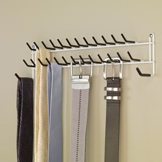 Nice ClosetMaid Tie And Belt Rack (27 Hook), White (Stainless Steel)