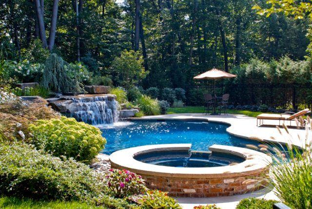 Pool selber bauen Ideen Formen Becken Materialien Pool selber