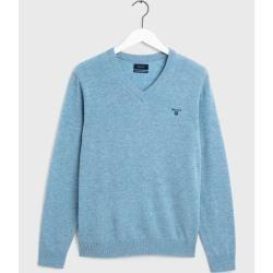 Photo of Gant Superfine Lambswool Sweater (Blue) Gant