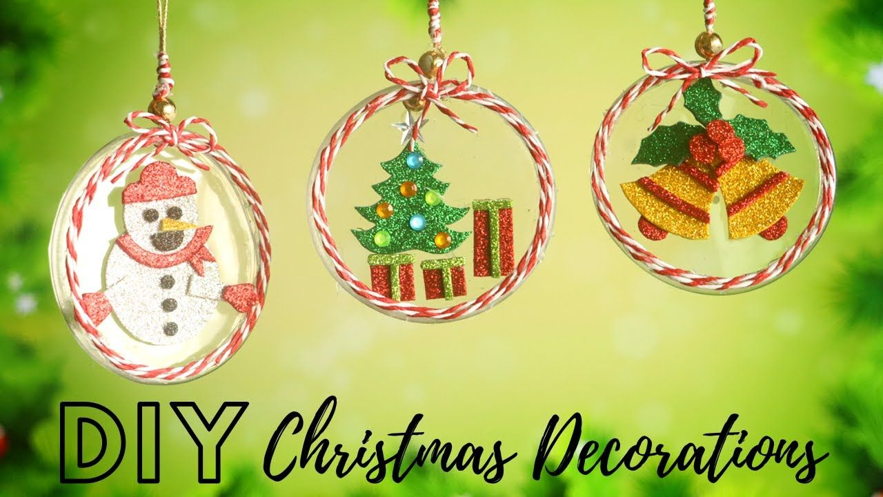 Diy Christmas Decorations From Plastic Bottle Recycling Handmade Christmas Ornaments Youtube Christmas Diy Handmade Christmas Ornaments Christmas Decor Diy