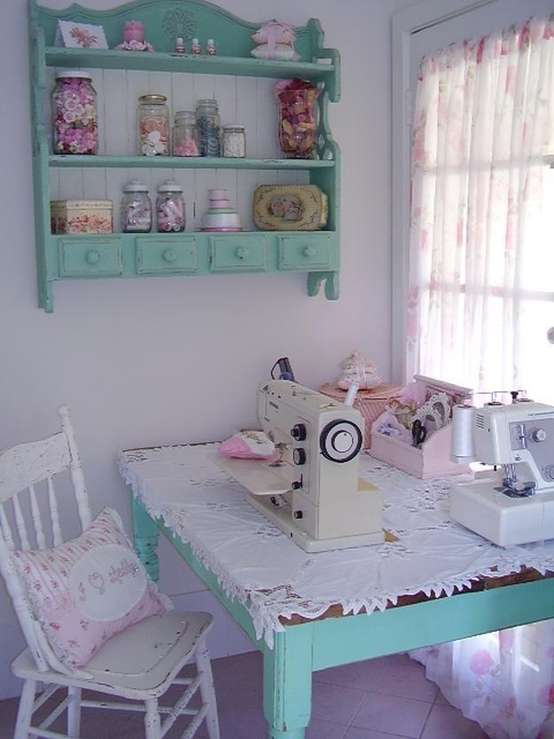 16 Sewing Room Organization Ideas #craftroomideas