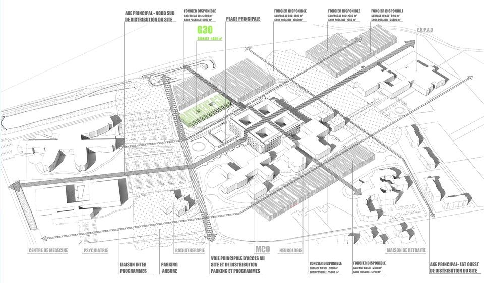 stratégie de developpemet urbain ATELIER UNE ARCHITECTURE- ROGER - Plan Maison En Longueur