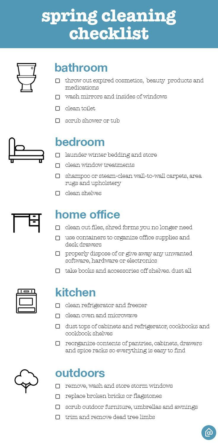 The Ultimate Spring Cleaning Checklist  Cleaning Checklist