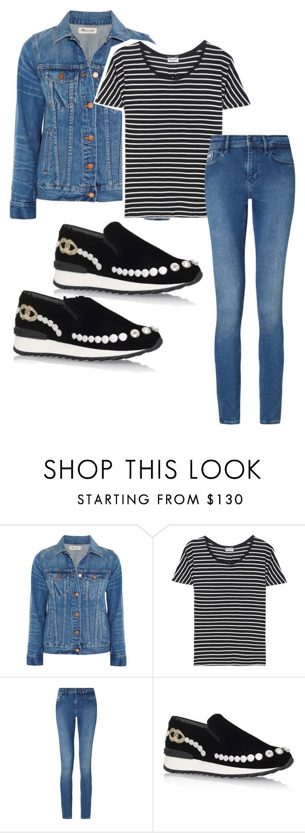 """We ain't ever getting older"" by jenna19monzela ❤ liked on Polyvore featuring Madewell, Yves Saint Laurent, Calvin Klein and Casadei"