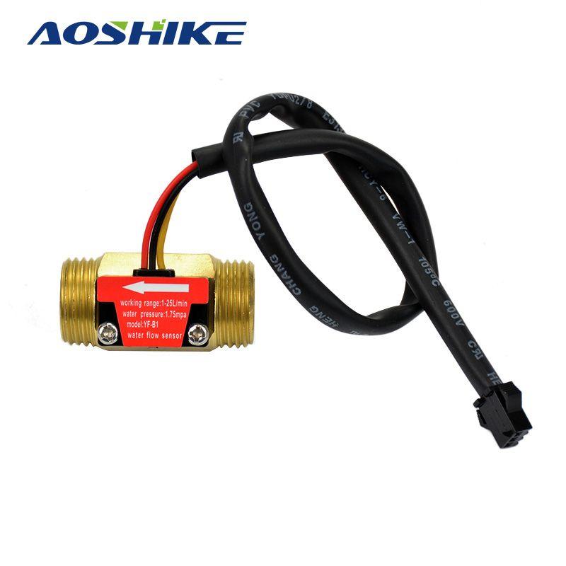 Aoshike water flow sensor g12 dc515v 175mpa 11q brass