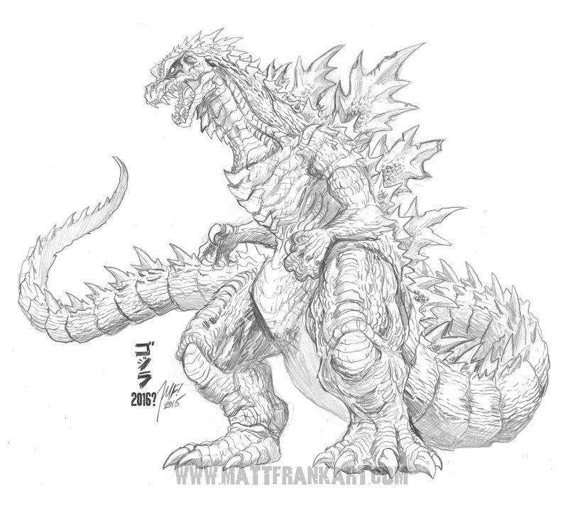 Godzilla 2016 Concept Sketch By KaijuSamurai.deviantart