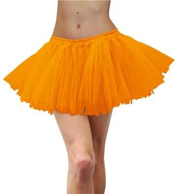 Orange Fluro Tutu - one size - 1980's!