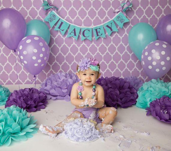 first birthday girl banner 1st birthday girl cake smash banner