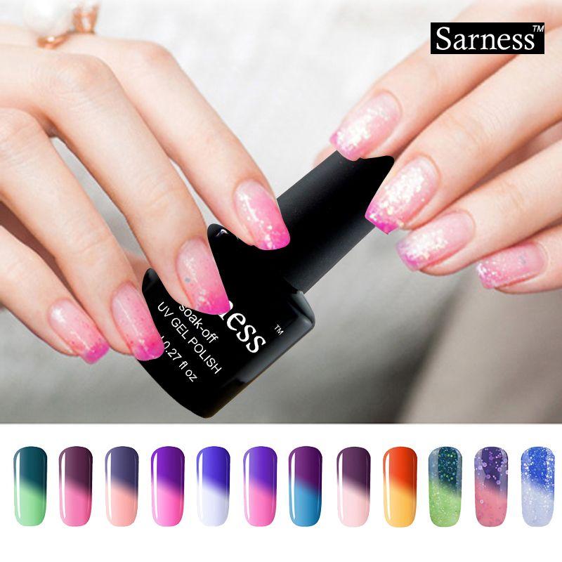 Sarness Mood Cambio de Color Cambio de Temperatura de Uñas de Gel ...