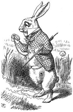 White Rabbit from Alice in Wonderland illustration by John Tenniel (1865)