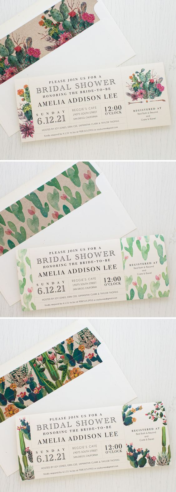 bridal shower invitations vector free%0A Set the tone of your bridal shower with Desert Blooms  Beacon Lane u    s  customizable vintage cactus